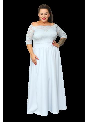 Sukienka maxi koronka na ślub na wesele koronka Plus Size
