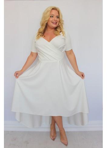 Sukienka ślubna maxi asymetryczna Plus Size