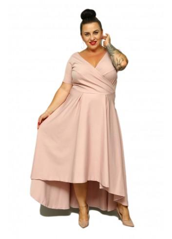 PROMOCJA -30% Sukienka maxi wieczorowa asymetryczna Plus Size