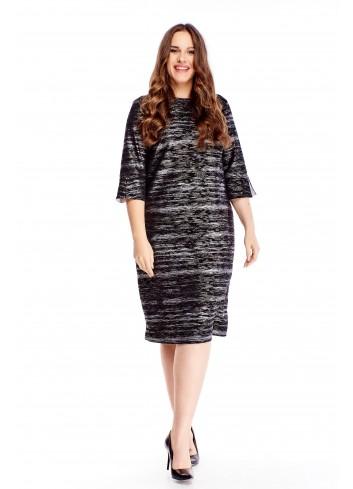 sukienka z rozcięciami na mankietach
