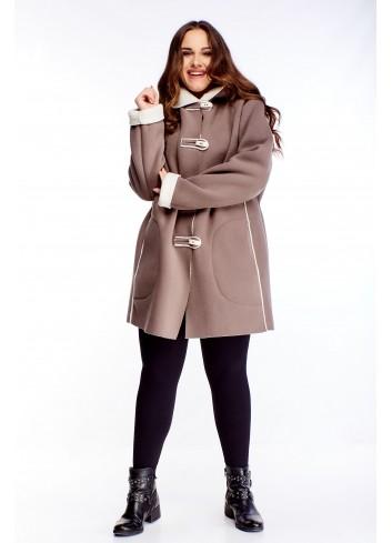 Ciepła modna kurtka na zimę kożuszek duże rozmiary XXL