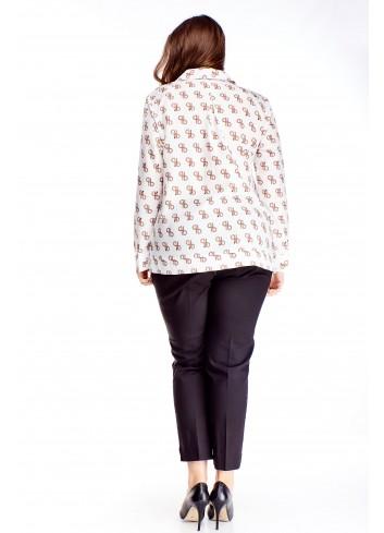 Luźna koszula w elegancki wzór
