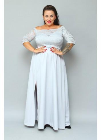 -20% promocja Sukienka maxi wieczorowa na wesele Plus Size