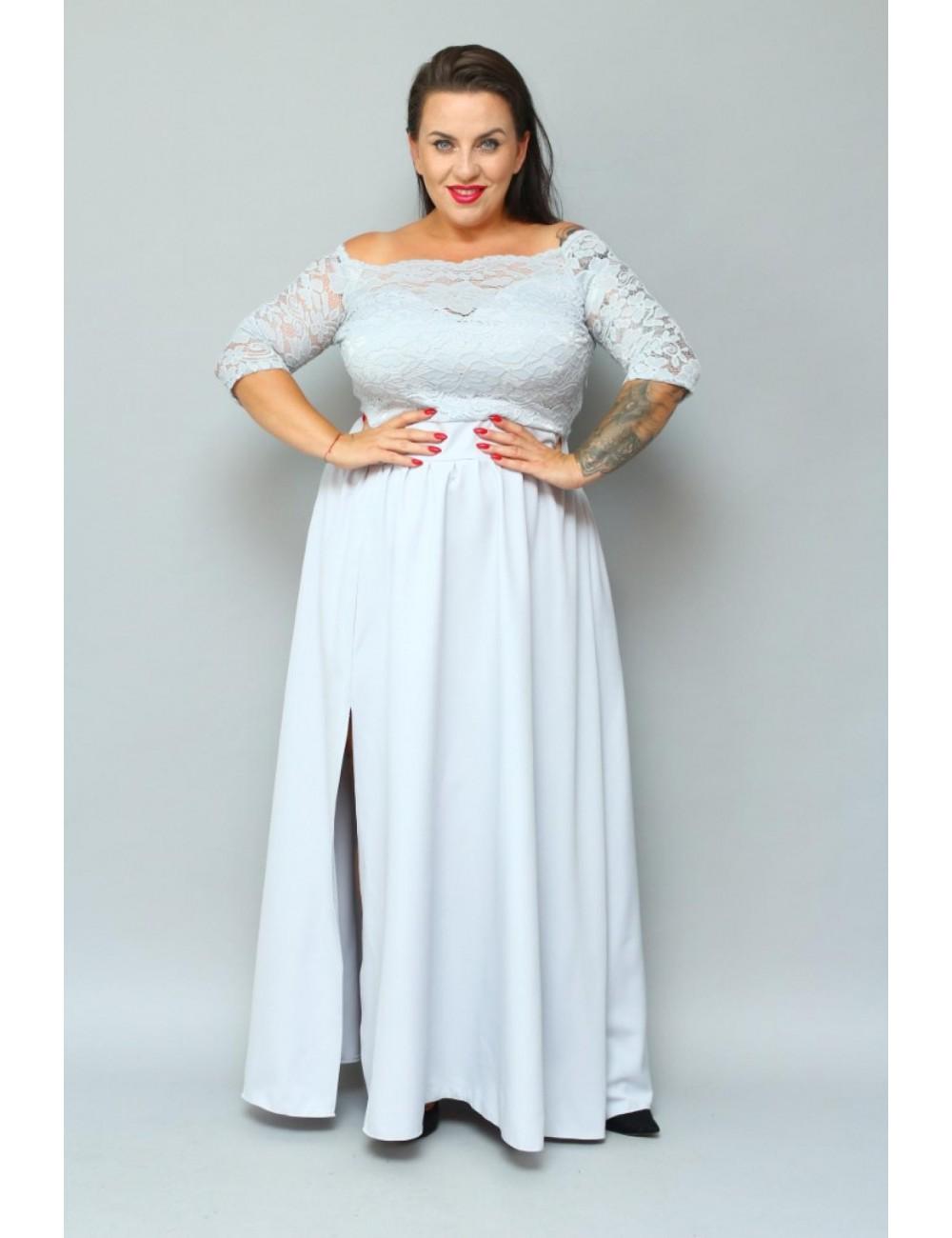 Sukienka maxi wieczorowa na wesele Plus Size