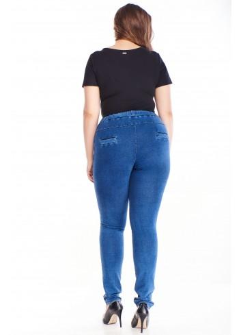 Spodnie dresowe imitujące jeans. Dresy plus size