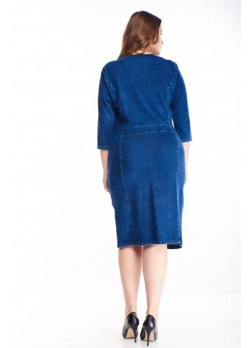 Sukienka z ozdobnym ekspresem oryginalna dla puszystych
