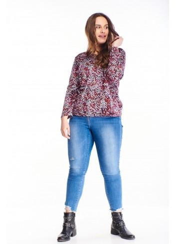 Bluzka w modne wzory PLUS SIZE do puszystej  modnej kobiety