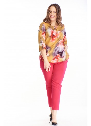 Modna Bluzka dla puszystych w ciekawy wzór