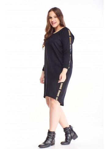 Sukienka z modnymi lampsami oversize dla puszystych XXL