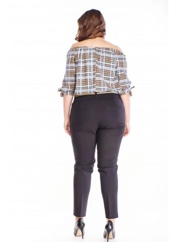 Eleganckie spodnie w kant Plus Size XXL
