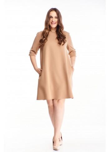 Trapezowa sukienka z kieszeniami oversize PLUS SIZE