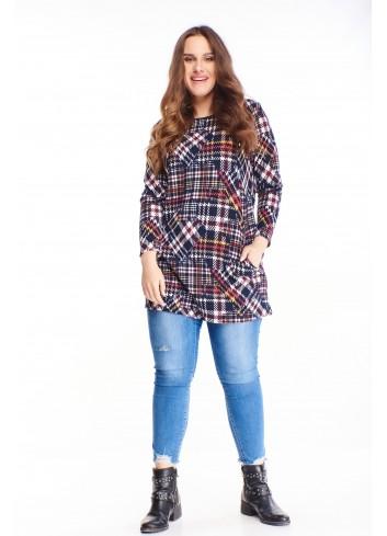 Tunika w modny wzór Plus Size