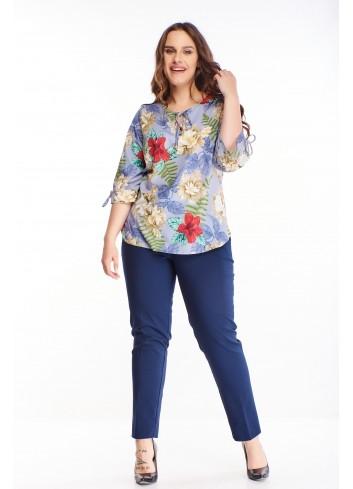 Modna bluzka w kwiatowy wzór duże rozmiary XXL