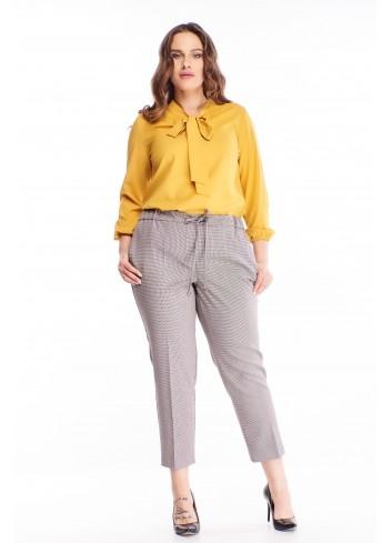 Wzorzyste spodnie na kant dla puszystej kobiety PLUS SIZE XL
