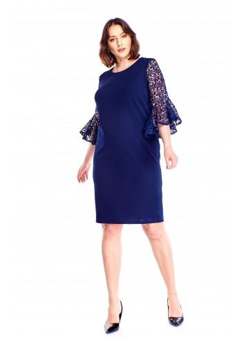 Sukienka z gipiurowymi rękawami Plus Size