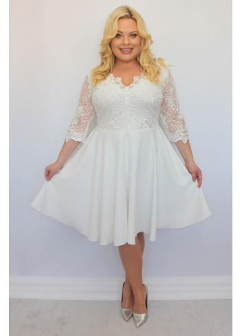 Sukienka rozkloszowana BOGATA koronka Cekiny