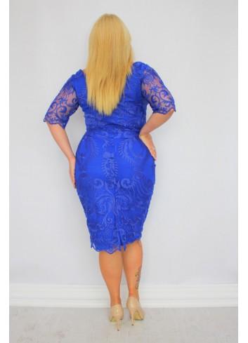 -20 % Promocja Piękna Sukienka ołówkowa ekskluzywna koronkowa Duże Rozmiary