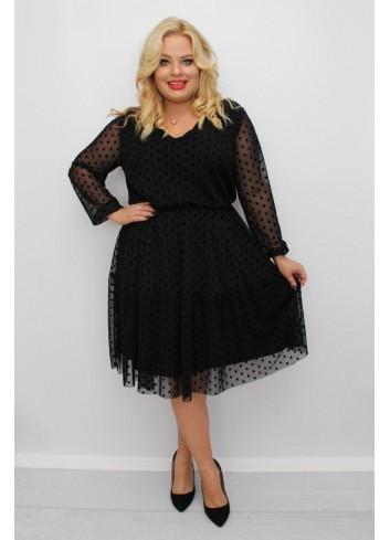 Stylowa sukienka midi wyjściowa Plus Size