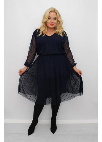 -20 % PROMOCJA Stylowa sukienka midi wyjściowa Plus Size