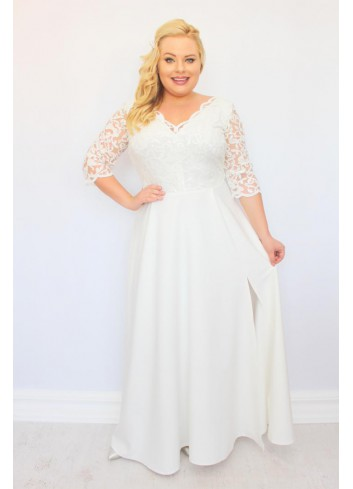 PROMOCJA -20% ELITE Sukienka wieczorowa maxi Duży rozmiar