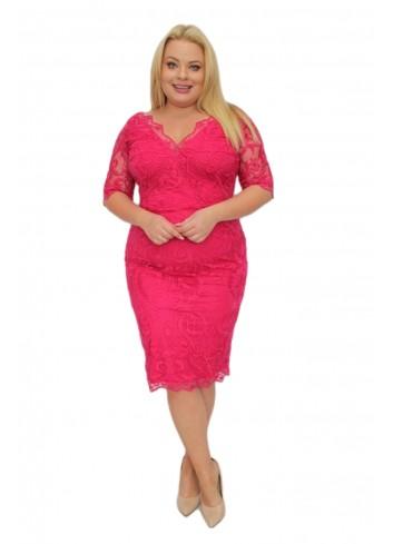 -20% Promocja Piękna Sukienka ołówkowa ekskluzywna koronkowa Duże Rozmiary