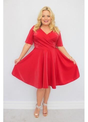 -30 % PROMOCJA Sukienka weselna rozkloszowana SHINE Plus Size