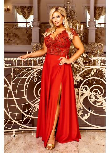 Sukienka maxi wieczorowa z cekinami na bal wesele PLUS SIZE