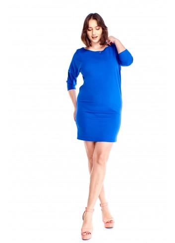 Sukienka z rękawem 3/4 Plus Size