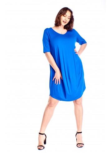 Luźna oversiz'owa sukienka Plus Size