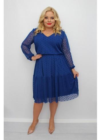 -10 % PROMOCJA Stylowa sukienka midi wyjściowa Plus Size