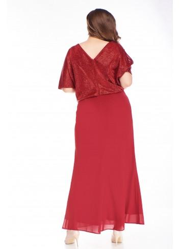 Sukienka maxi brokatowa góra i tiulowy dół duże rozmiary