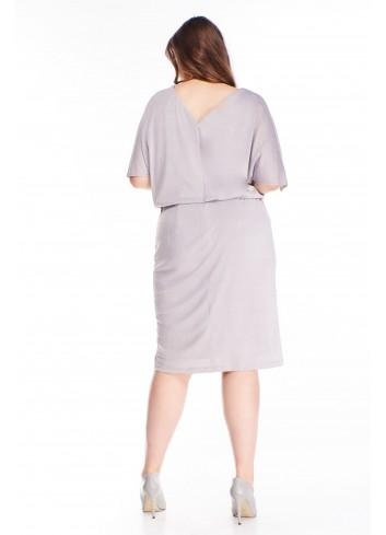 Sukienka z luźną górą i rozcięciami na ramionach PLUS SIZE