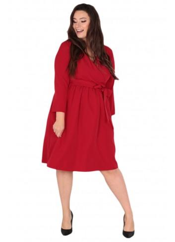 Sukienka Glasie Szlafrokowa midi Plus Size
