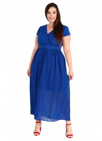 Sukienka Maxi MEZO duży rozmiar PLUS SIZE Chabrwa