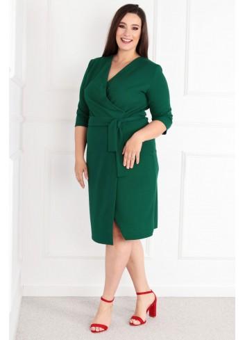 Sukienka Voxi szlafrokowa midi Plus Size zielony