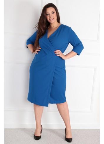 Sukienka Voxi szlafrokowa midi Plus Size chabrowy
