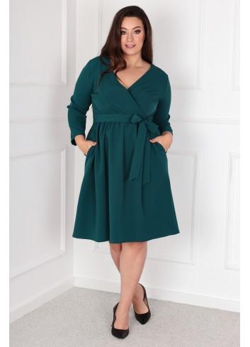 Sukienka Glasie Szlafrokowa midi Plus Size zielony