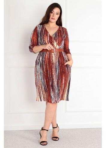 Sukienka Belladona sukienka do pracy wygodna Plus Size XXL