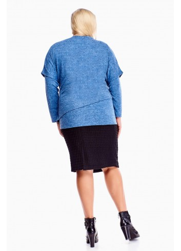 podwójna bluzka z broszką