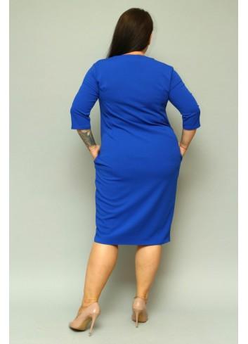 Sukienka bombka oversize z kieszeniami PLUS SIZE