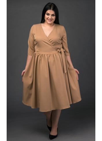 Sukienka szlafrokowa Ava Gardner na wesele Plus Size Laprim