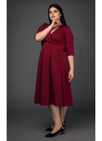 Sukienka Kim Novak na wesele kontrafałdy Plus Size Laprim