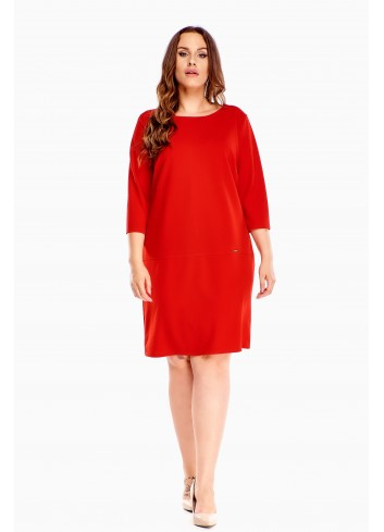 Luźna swobodna sukienka oversize dla puszystej XXL