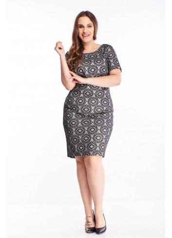 Błyszcząca ołówkowa sukienka dla puszystej duże rozmiary XXL