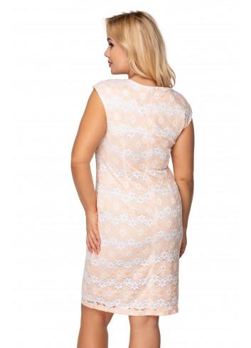 koronkowa sukienka z krótkim rękawem