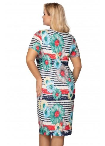 dopasowana sukienka z krótkim rękawem