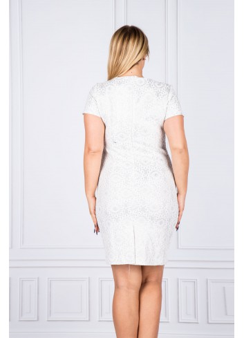 Sukienka koktajlowa taliowana