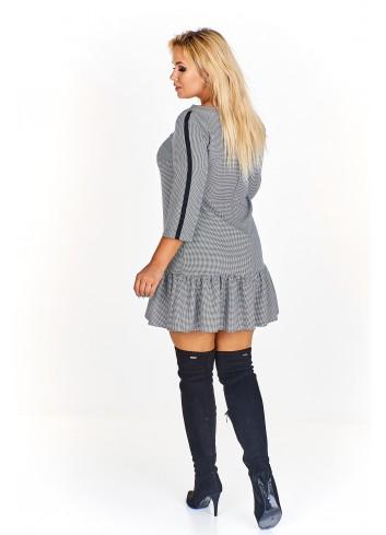 Dziewczęca sukienka z falbanką