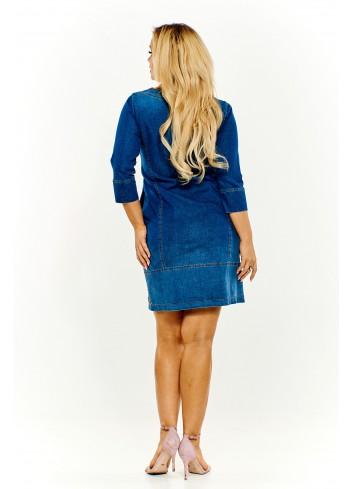 Ołówkowa sukienka jeansowa Plus Size