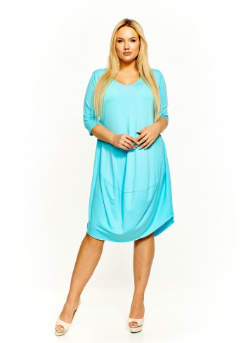 Luźna sukienka na co dzień Plus Size